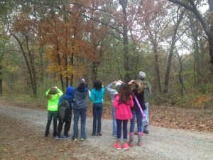 Youth birding at an MRBO event