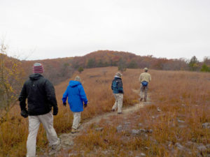 CAS members hike the Rocky Top Trail at Lake of Ozarks State Park.
