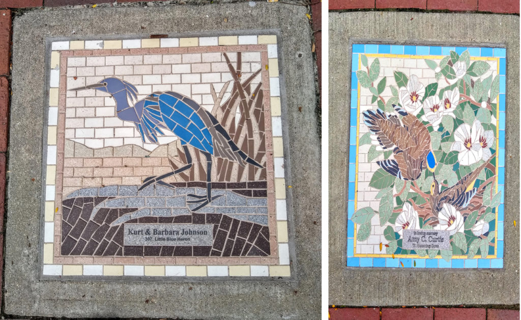 Mosaics in Audubon, Iowa. Photos by Louise Flenner.